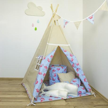 """Namiot tipi dla dziecka """"Wakacyjne Przygody"""" - zestaw mini"""