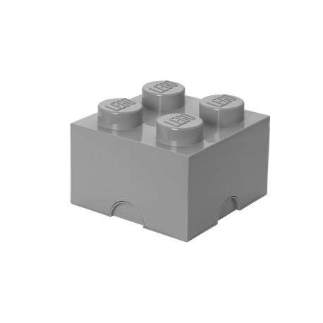 Pojemnik w kształcie klocka LEGO 4 - szary
