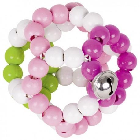 Piłeczka dotykowa różowa z dzwonkiem