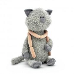 Przytulanka Kot Kumpel z parówkami 40cm