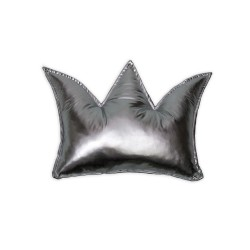 Poduszka korona - srebrna
