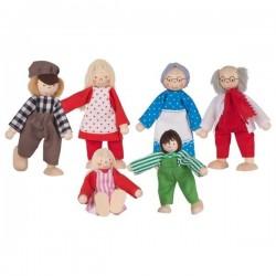 GOKI Rodzinka Farmera - drewniane lalki do domku