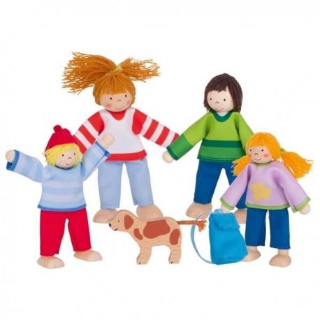 Drewniane lalki do domku Rodzinka na wakacjach GOKI