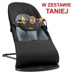 BABYBJORN - leżaczek BALANCE SOFT - Czarny / Ciemnoszary + Zabawka