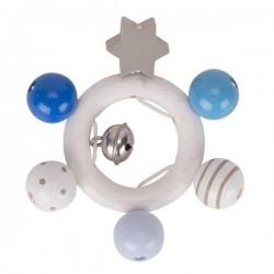 Pierścień dotykowy szaro-niebieski