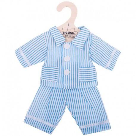 Piżama dla lalki niebieska w paski
