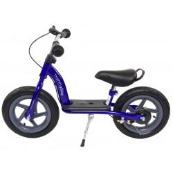 Rowerek biegowy z hulajnogą - niebieski