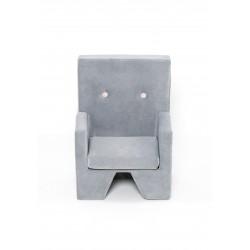 Fotelik dla dziecka Premium MISIOO - podłokietniki - jasnoszary