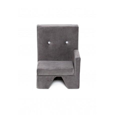 Fotelik dla dziecka Premium MISIOO - lewy - szary