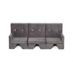 Sofa dla dziecka Premium MISIOO - 3 elementy - szary