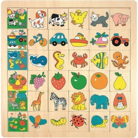 Puzzle dopasuj obrazek