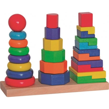 Układanka geometryczna 3 wieże