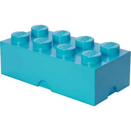 Pojemnik w kształcie klocka LEGO 8 - lazurowy