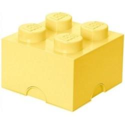 Pojemnik w kształcie klocka LEGO 4 - jasnożółty