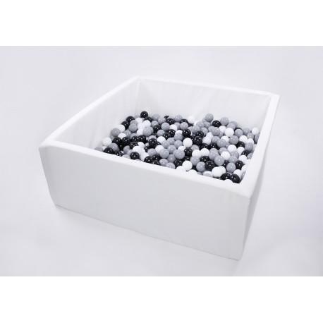 Suchy basen dla dzieci z piłeczkami 110x110x50 kwadratowy 500 szt. piłek - kolekcja SUMMER