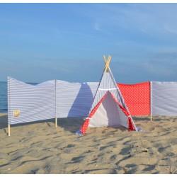 Zestaw plażowy - parawan i namiot - Marynarski sen