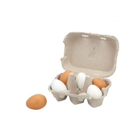 Jajka drewniane w wytłoczce