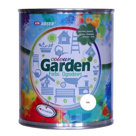 Farba ogrodowa GardenColour biała 0,75l