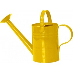 Zabawka grodowa - metalowa konewka żółta