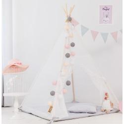 Namiot tipi dla dziecka Koronkowe Natchnienie - zestaw maxi