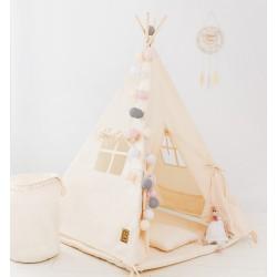 Kremowy namiot tipi dla dzieci