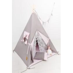 Namiot tipi dla dziecka Pudrowa Księżniczka - zestaw