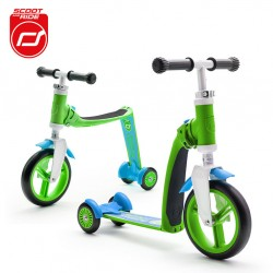 Hulajnoga i rowerek SCOOTANDRIDE Highwaybaby PLUS 2w1 green