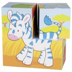 Goki puzzle sześcienne mali przyjaciele