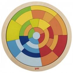 Układanka okrągła mozaika