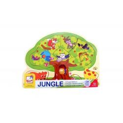 Układanka puzzle drzewo ze zwierzętami