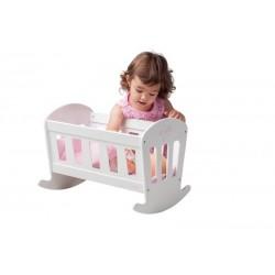 Drewniana kołyska łóżeczko dla lalek