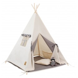 Namiot tipi dla dziecka Naturalna Szarość - zestaw midi