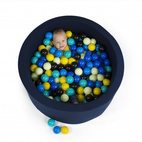 Suchy basen dla dzieci 90x30 granatowy + 200 piłek