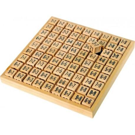 Drewniana tabliczka mnożenia - kostki