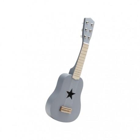 Drewniana gitara - szara