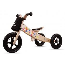 Rowerek biegowy drewniany 2w1 Twist Cubic Black