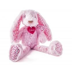 Maskotka różowy króliczek Stella 38cm
