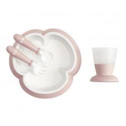 BABYBJORN - zestaw do karmienia - Powder Pink