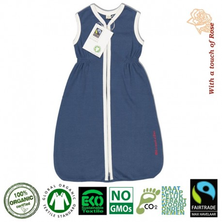 With a touch of Rose Śpiworek Organiczny Short Navy - Natural