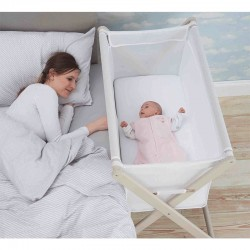 Little Chick London Crib White Oddychające łóżeczko dostawne