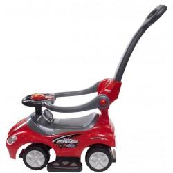 Jeździk Mega car z popychaczem - czerwony