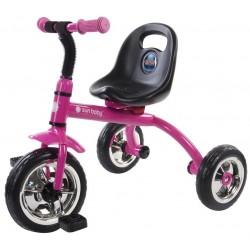 Rowerek trójkołowy Racer - różowy