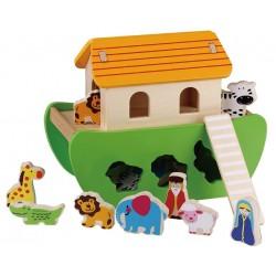 Drewniany sorter Arka Noego 15 elementów