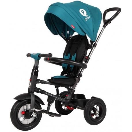Rowerek trójkołowy - pompowane koła Qplay Rito - zielony