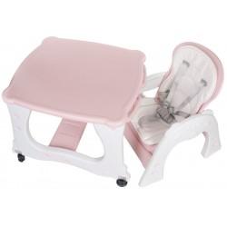 Krzesełko do karmienia TwoIsOne różowe