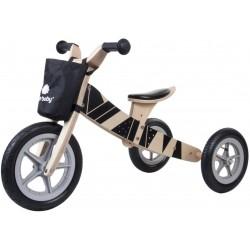 Rowerek biegowy drewniany 2w1 Twist Samoa black