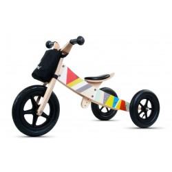 Rowerek biegowy drewniany 2w1 Twist Classic Black