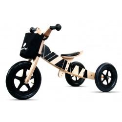 Rowerek biegowy drewniany 2w1 Twist Samoa black on Black