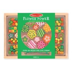Zielony zestaw koralików Kwiatuszki