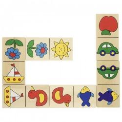 Domino Dominika w drewnianym pudełku